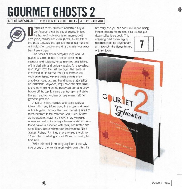 Real Crime June 2017 page 94 Review of Gourmet Ghosts 2
