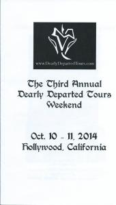 Dearly Departed Tours Annual Weekend 2014 cover