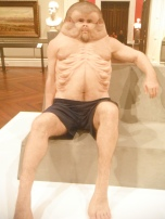 Graham, a sculpture made to show how an ideal human should look to survive car crashes; was a media sensation!