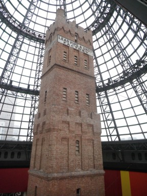 "The Coop's Shot Tower, where they made lead ballast and ammunition: the man who climbed to the top scratched ""Hell"" on the stairway...."