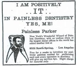 Parker, a showman who wore a necklace of teeth, advertised relentlessly - a rarity at the time.