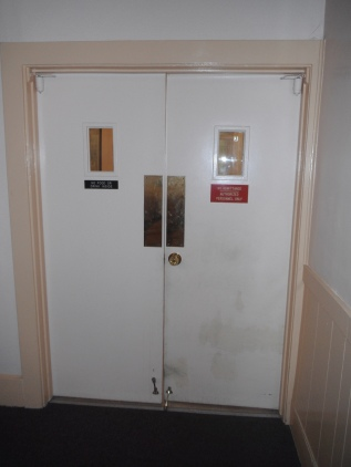 Double doors in the surgery....
