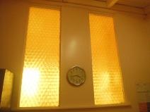 Beautiful amber windows.
