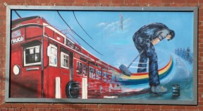 A trugo mural in Yarraville