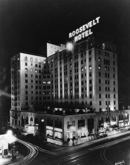 Roosevelt Hotel black and white pic