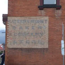 Ghost sign - Hobart bakery