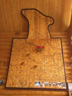 The amazing wooden wall map